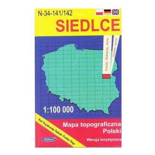 N-34-141/142 Siedlce. Mapa topograficzno-turystyczna 1:100 000 wyd. WZ-Kart, produkt marki Wojskowe Zakłady Kartograficzne