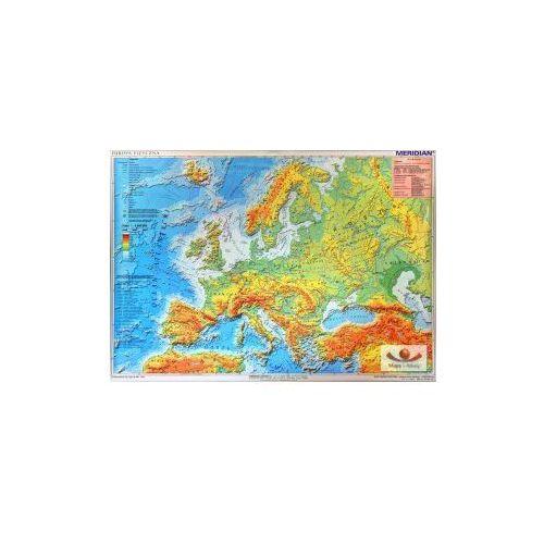 Produkt Europa fizyczna z elementami ekologii / mapa hipsometryczna. Mapa ścienna., marki Meridian