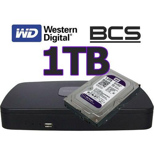 Rejestrator sieciowy IP BCS-NVR0801E + dysk 1TB