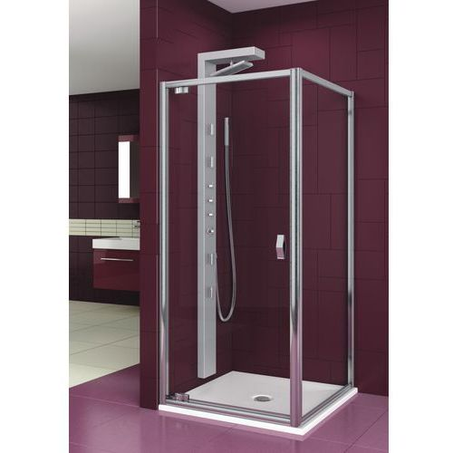 AQUAFORM SALGADO Drzwi uchwylne 90, profile chrom, szkło transparentne 103-06076 (drzwi prysznicowe)