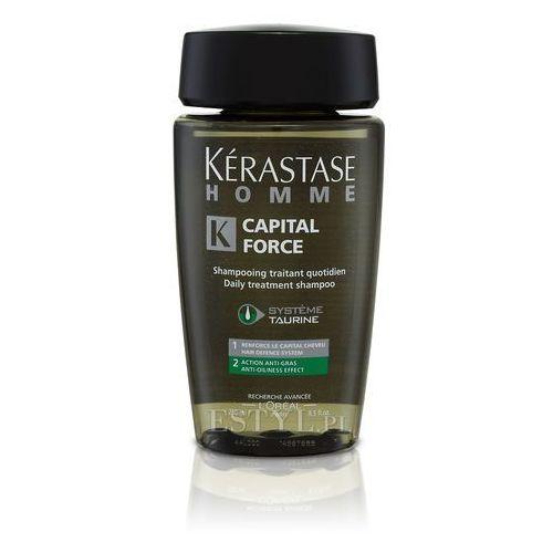 Kerastase Homme Capital Force Anti Gras - Kąpiel do włosów przetłuszczających się dla mężczyzn 250ml - produkt z kategorii- odżywki do włosów