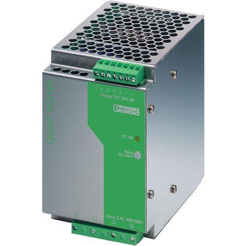 Artykuł Zasilacz na szynę nośną Phoenix Contact QUINT-PS-100-240AC/24DC/5 2938581, 24 V/DC 5 A 120 W z kat