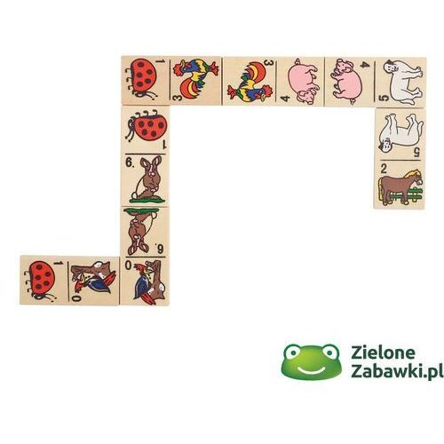 Domino dla dzieci w skrzyneczce z motywem zwierząt, WG090-, gry drewniane, goki z ZieloneZabawki.pl