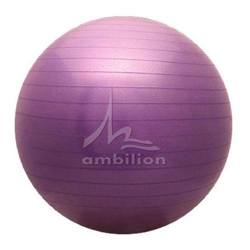 Piłka fitness  Antiburst 65 fioletowa, produkt marki ATHLETIC24