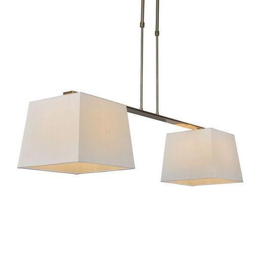 Lampa wisząca Combi Delux 2 klosz kwadratowy 30cm biały - sprawdź w lampyiswiatlo.pl
