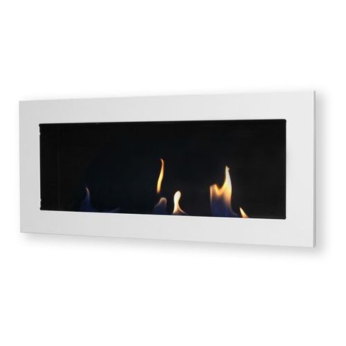 Biokominek dekoracyjny prostokątny Flat (biały) EcoFire - oferta [1532e803112215b3]