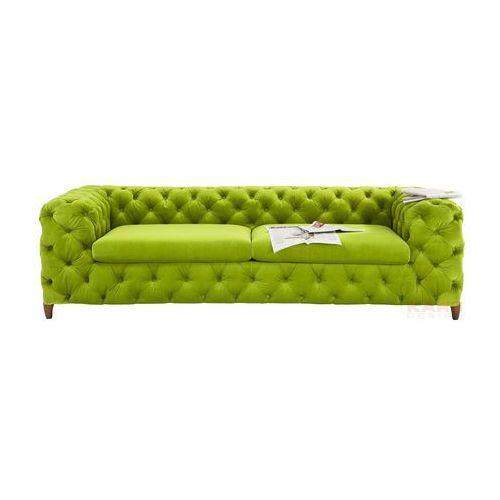 Desire Sofa 3 Osobowa Tkanina Aksamit Zielona 66x245x102 - 78471