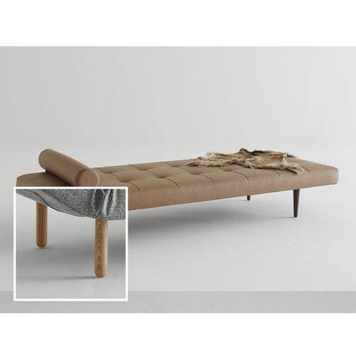 Sofa Napper brązowa 593 nogi jasne drewno Stem  740030593-740032-1, INNOVATION iStyle