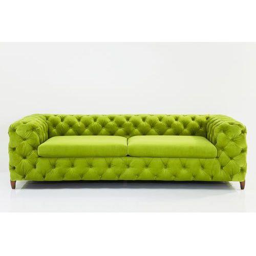 Desire Sofa 3 Osobowa Tkanina Aksamit Zielona 66x245x102 Model z Ekspozycji - 78471, Kare Design