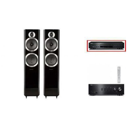 YAMAHA A-S501 + CD-S300 + WHARFEDALE 10.6 - wieża, zestaw hifi - zmontuj tanio swój zestaw na stronie