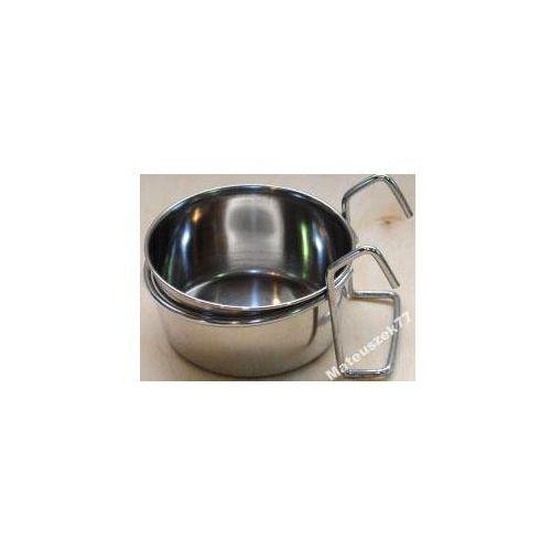 MISKA METALOWA ZAWIESZANA na pokarm, wodę średnica - 14,5cm