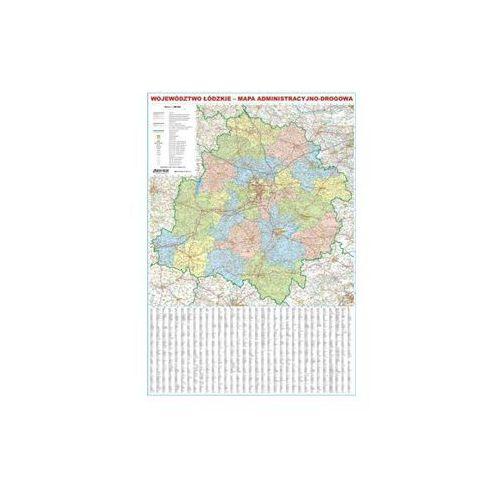 Województwo łódzkie mapa ścienna administracyjno-drogowa 1:200 000 EkoGraf, produkt marki Eko-Graf