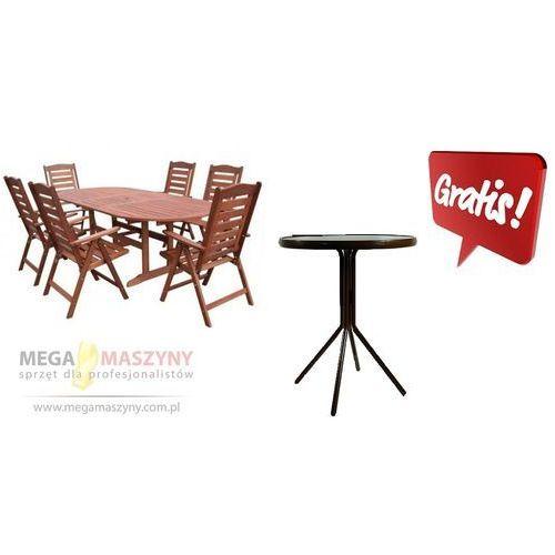 HECHT Zestaw ogrodowy - stół + 6 krzeseł Prague Set + stolik gratis!! ze sklepu Megamaszyny - sprzęt dla p