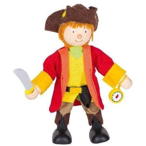 Postać do teatrzyku dla dzieci - kapitan piratów, zabawa w teatr (pacynka, kukiełka)