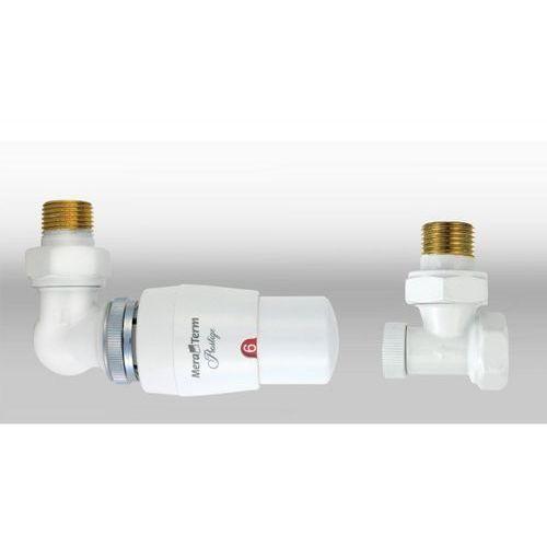 Zestaw termostatyczny master wersja osiowa lewa biała wyprodukowany przez Varioterm
