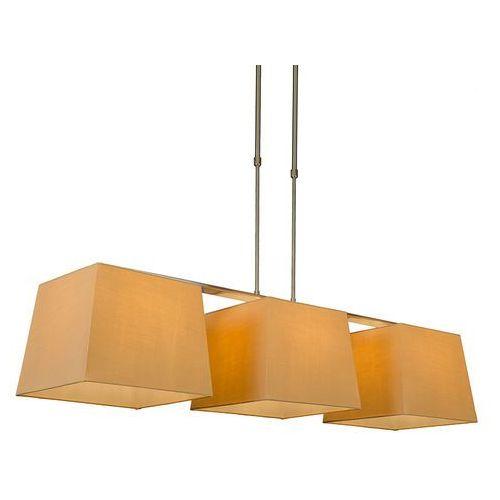 Lampa wisząca Combi Delux 3 klosz kwadratowy 30cm beżowy - sprawdź w lampyiswiatlo.pl