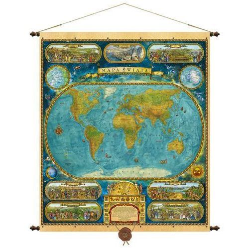 Świat mapa ścienna 97x115 cm , produkt marki Pergamena