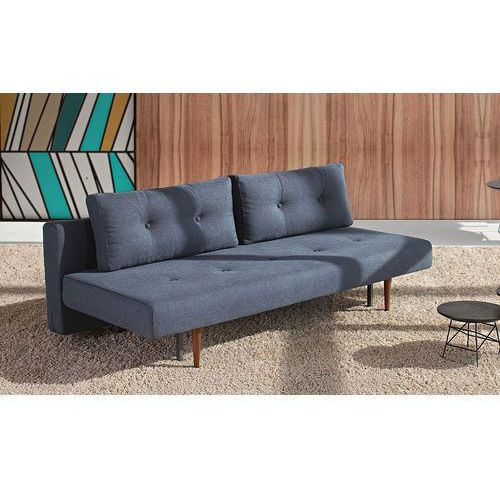 Istyle Recast Sofa Rozkładana, niebieska tkanina 515, nogi drewniane - 742050515-3-2, Innovation
