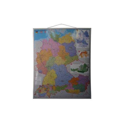 Niemcy Austria Szwajcaria mapa ścienna 1:900 000 , produkt marki Stiefel