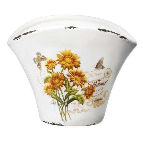 Osłonka ceramiczna Flower 20,5 cm - sprawdź w CitiHome.pl