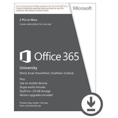 Microsoft Office 365 University 32b/x64 PL Subs4YR z kategorii Programy biurowe i narzędziowe