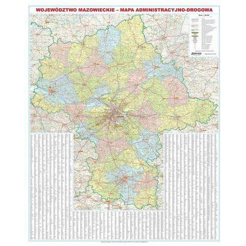 Województwo Mazowieckie. Mapa ścienna administracyjno-drogowa 1:200 000 wyd. , produkt marki Eko-Graf