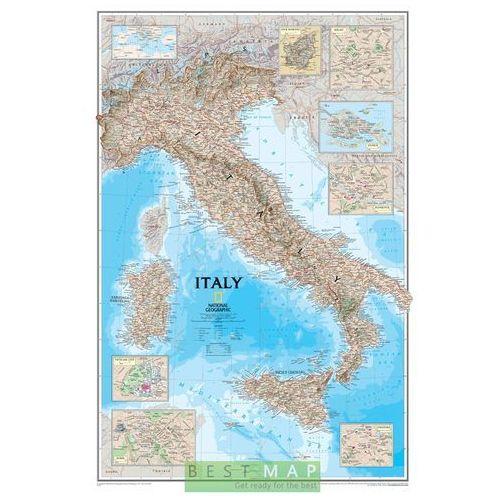 Włochy. Mapa ścienna Classic w ramie 1:1,77 mln wyd. , produkt marki National Geographic