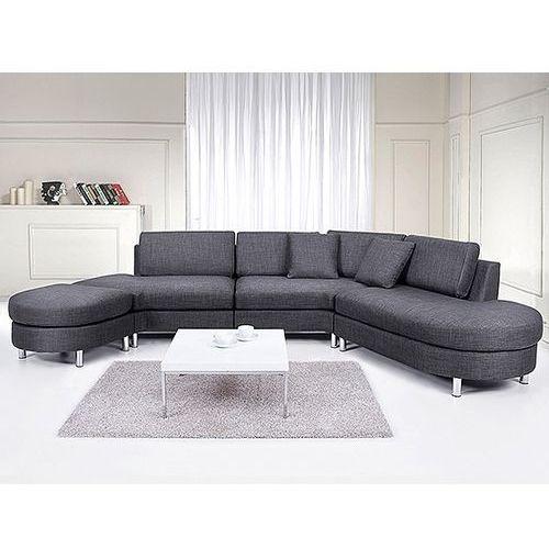 Sofa tapicerowana - kanapa z 100% poliestru szara - COPENHAGEN, Beliani