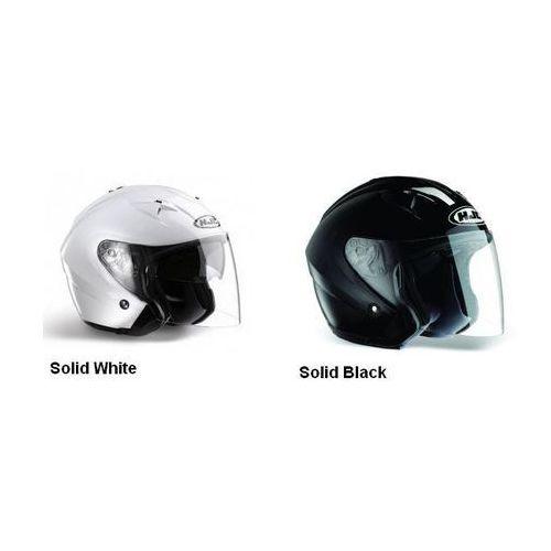Kask HJC IS-33 SOLID BLACK BLK, SOLID WHITE WHT, RUBBERTONE BLACK RUB, SILVER, z kategorii kaski motocyklowe