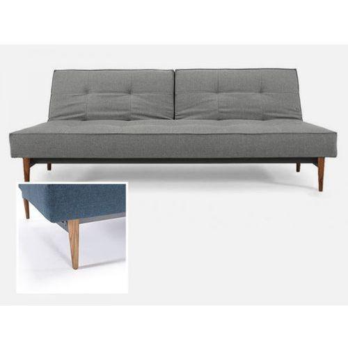 Sofa Splitback szara 216 nogi jasne drewno  741010216-741024-1-6, INNOVATION iStyle