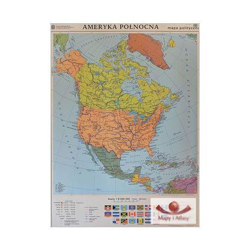 Ameryka Północna. Mapa polityczna / konturowa. Mapa ścienna Ameryki Północnej, produkt marki Nowa Era
