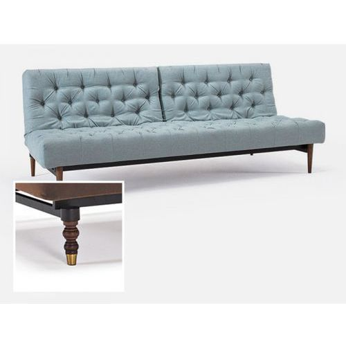 Sofa Oldschool szara 552 nogi ciemne drewno Retro  741018552-741018-4-11, INNOVATION iStyle