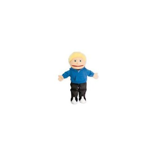 Mały chłopiec - pacynka z ruchomą buzią / 38 cm (pacynka, kukiełka)