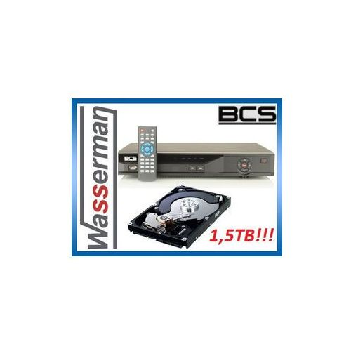 Rejestrator BCS 0401QE II 4kan + Dysk HDD 1,5 TB!