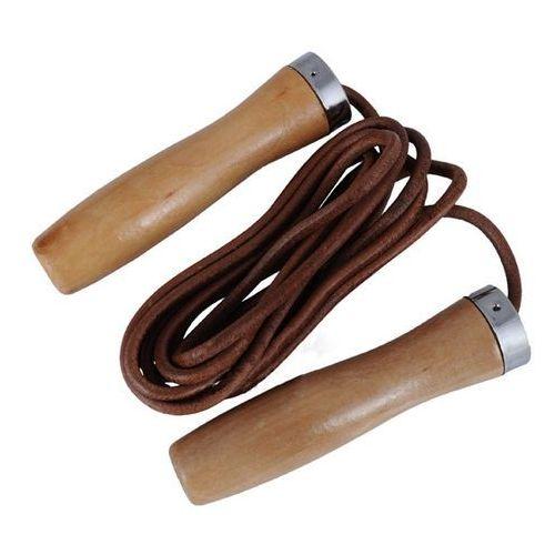 Skakanka skóra z drewnianymi rączkami, produkt marki Meteor