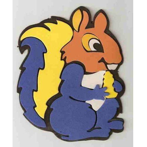 Obrazek - zabawka na ścianę w kształcie wiewiórki - mały od marikus.pl
