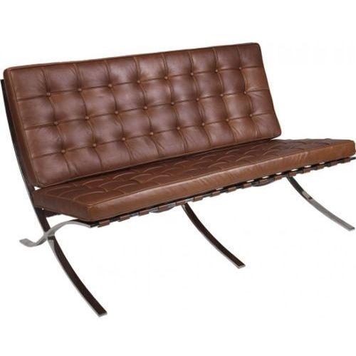 Sofa BA2 2 osobowa, brązowa skóra #11
