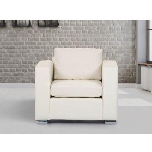 Skórzany fotel bezowy - sofa - HELSINKI, Beliani