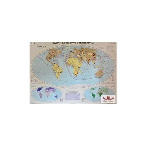 Świat. Górnictwo i energetyka / Handel międzynarodowy. Mapa ścienna, produkt marki Nowa Era