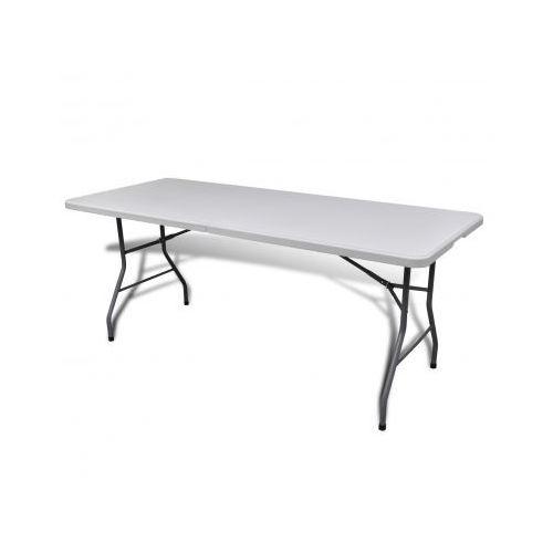 Biały składany stolik ogrodowy HDPE 182 cm (stół ogrodowy)