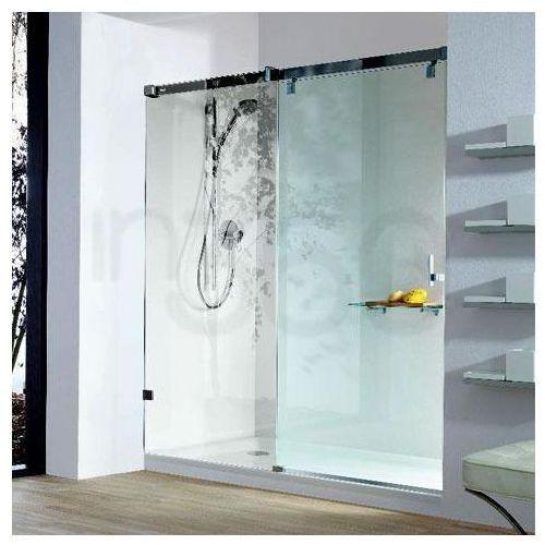 Huppe Drzwi suwane 1-częściowe z segmentem stałym do wnęki, chrom, mocowanie lewe - Seria Vista Manufaktur