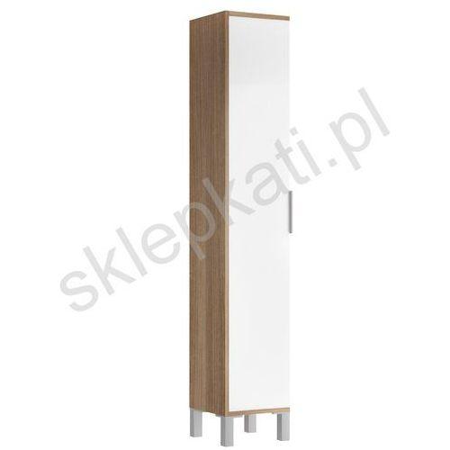 CERSANIT BAMAKO słupek, kolor Biały/Jesion Ciemny S564-009 - produkt z kategorii- regały łazienkowe