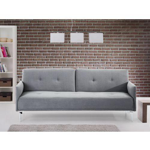 Sofa do spania - kanapa rozkladana - szarozielony - Lucan, Beliani