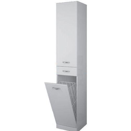 Produkt z kategorii- regały łazienkowe - Elita Aqua Line słupek łazienkowy 35x35,5x187 cm wysoki z koszem