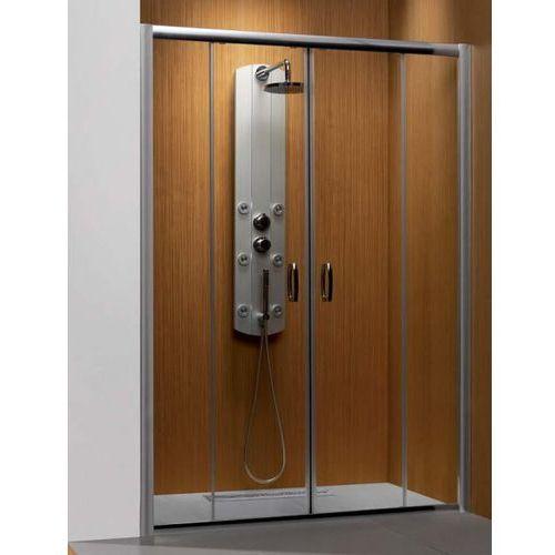 Premium Plus DWD 1400 Radaway drzwi wnękowe dwuczęściowe 1372-1415x1900 chrom szkło brązowe - 33353-01-08