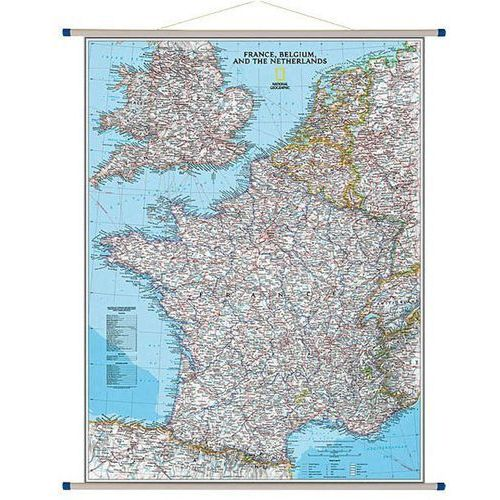 Francja, Belgia, Holandia. Mapa ścienna Classic 1:1 953 000 wyd. , produkt marki National Geographic