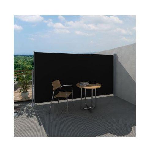 Parawan tarasowy, boczna markiza 160 x 300 cm Czarna - sprawdź w VidaXL