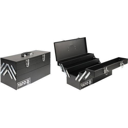 Towar Skrzynka narzędziowa, metalowa 460x200x225 mm YT-0885 z kategorii skrzynki i walizki narzędziowe