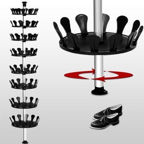 wideShop PÓŁKA REGAŁ STOJAK OBROTOWY NA BUTY z kat. szafki na buty