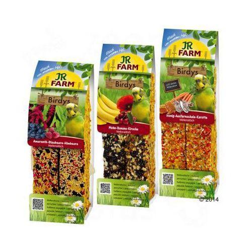 JR Birdy's Kolby dla papużek falistych - Pakiet mieszany 6 x 2 kolby (780 g), JR Farm